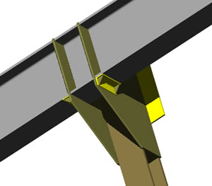imagen Mensula metalica 3d, en Steel framing - Sistemas constructivos