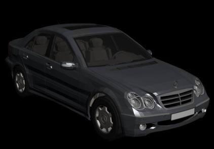 Mercedes c-class 3d, en Automóviles en 3d – Medios de transporte