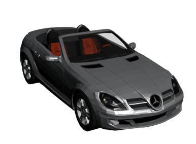 Mercedes slk 3d, en Automóviles en 3d – Medios de transporte