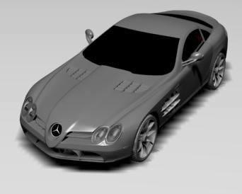 Mercedes slr 3d, en Automóviles en 3d – Medios de transporte