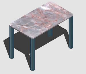 Planos de Mesa 3d con materiales aplicados, en Mesas y juegos de comedor 3d – Muebles equipamiento