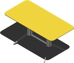 Planos de Mesa 3d con materiales, en Mesas 2d – Muebles equipamiento