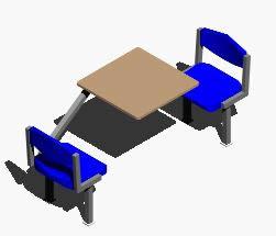 Planos de Mesa 3d, en Butacas – Muebles equipamiento