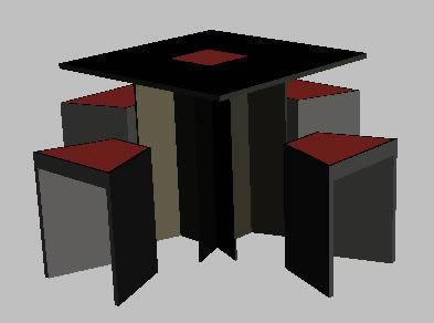 Planos de Mesa. 3d, en Mesas y juegos de comedor 3d – Muebles equipamiento