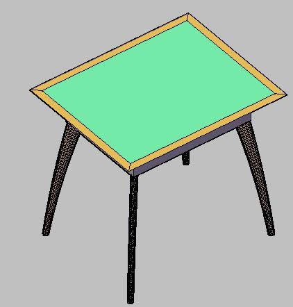 Planos de Mesa auxiliar urbis, en Mesas y juegos de comedor 3d – Muebles equipamiento
