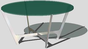 Mesa baja – sixties low table, en Mesas y juegos de comedor 3d – Muebles equipamiento