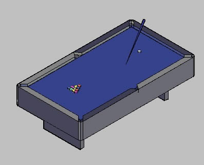 Planos de Mesa billar, en Juegos – Muebles equipamiento