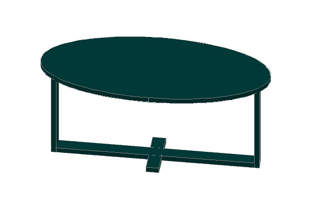 Planos de Mesa café ovalada, en Mesas y juegos de comedor 3d – Muebles equipamiento