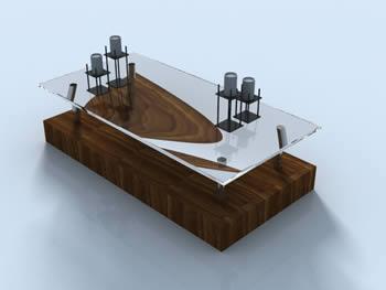 Mesas y juegos de comedor 3d archives planos de casas for Mesas de centro de sala de vidrio
