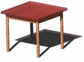 Planos de Mesa chica 3d, en Mesas y juegos de comedor 3d – Muebles equipamiento