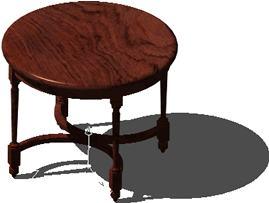 Planos de Mesa circular, en Mesas y juegos de comedor 3d – Muebles equipamiento