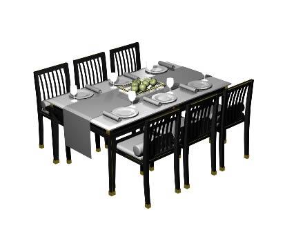 Mesa comedor, en Mesas y juegos de comedor 3d – Muebles equipamiento
