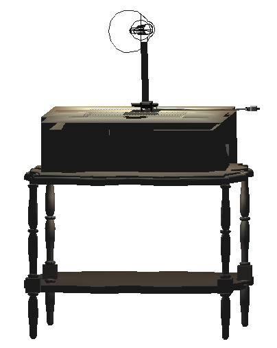 imagen Mesa con lampara 3d, en Dormitorios - Muebles equipamiento