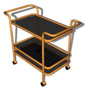 Mesa con ruedas 3d, en Mesas y juegos de comedor 3d – Muebles equipamiento