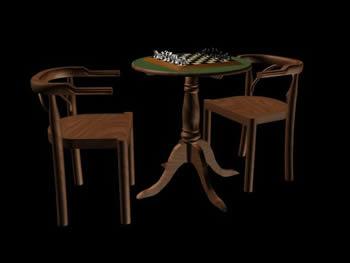 imagen Mesa de ajedrez, en Juegos - Muebles equipamiento