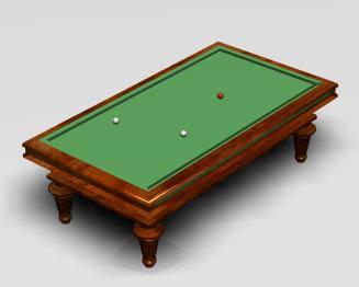 Mesa de billar 3d, en Casinos y casas de juego – Muebles equipamiento