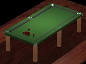 Mesa de billar 3d, en Juegos – Muebles equipamiento