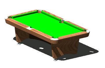 Planos de Mesa de billar 3d, en Juegos – Muebles equipamiento