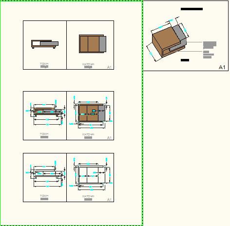 Planos de Mesa de cafe, en Mesas 2d – Muebles equipamiento