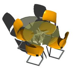 imagen Mesa de cafe, en Mesas y juegos de comedor 3d - Muebles equipamiento