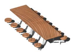 Planos de Mesa de cafe grupal, en Bares y restaurants – Muebles equipamiento