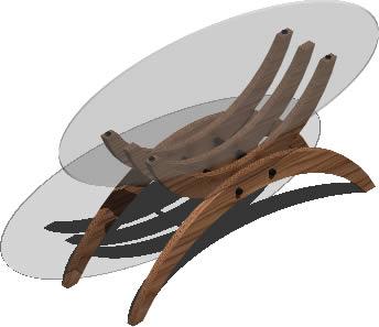 Planos de Mesa de centro 120x55x52 3d con materiales aplicados, en Mesas y juegos de comedor 3d – Muebles equipamiento