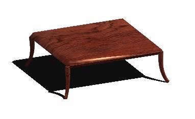 imagen Mesa de centro 3d con materiales aplicados, en Mesas y juegos de comedor 3d - Muebles equipamiento