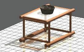 Planos de Mesa de centro 3d, en Muebles varios – Muebles equipamiento