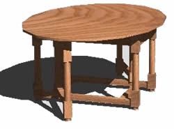 Planos de Mesa de comedor, en Mesas y juegos de comedor 3d – Muebles equipamiento