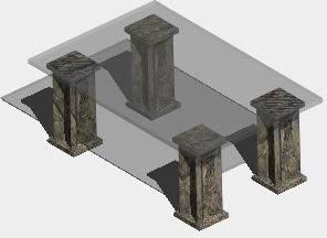Planos de Mesa de estar 3d, en Mesas y juegos de comedor 3d – Muebles equipamiento
