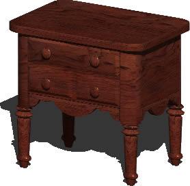 Planos de Mesa de madera con cajones 3d con materiales aplicados, en Mesas y juegos de comedor 3d – Muebles equipamiento