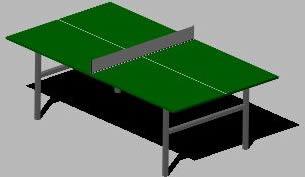 Planos de Mesa de ping pon, en Juegos – Muebles equipamiento