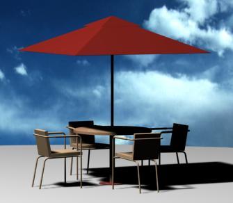 Mesa de playa, en Mesas y juegos de comedor 3d – Muebles equipamiento