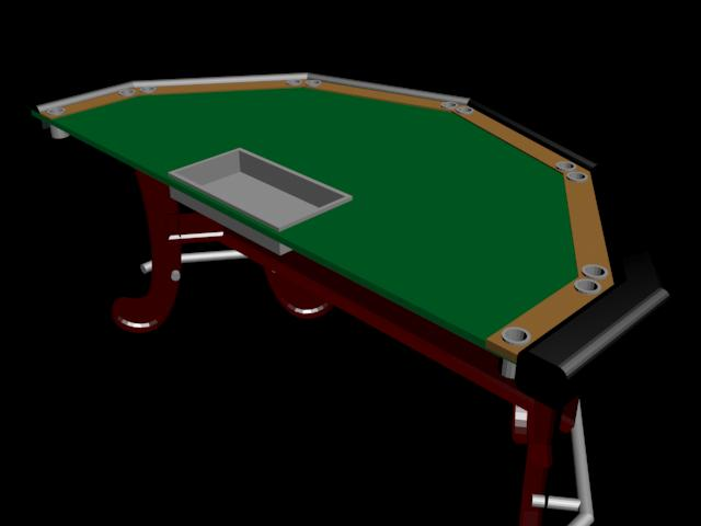 Mesa de poker, en Componentes 3d – Electrónica