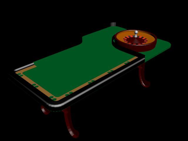 Mesa  de poker y ruleta , machines, en Componentes 3d – Electrónica