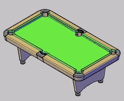 Planos de Mesa de pool 3d, en Juegos – Muebles equipamiento
