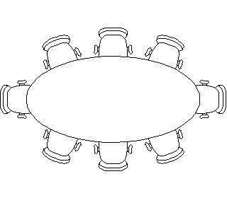Planos de Mesa de reuniones, en Mesas 2d – Muebles equipamiento