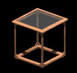 Planos de Mesa esquinera 3d con materiales, en Mesas y juegos de comedor 3d – Muebles equipamiento