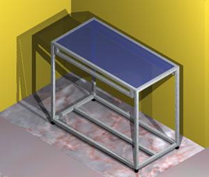 imagen Mesa expositor 3d, en Supermercados y tiendas - Muebles equipamiento