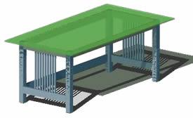 Planos de Mesa grande de comedor 3d, en Mesas y juegos de comedor 3d – Muebles equipamiento