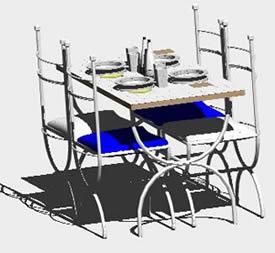 imagen Mesa hierro 3d, en Mesas y juegos de comedor 3d - Muebles equipamiento