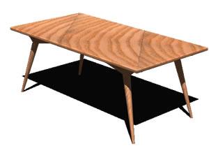 imagen Mesa mediana 3d, en Mesas y juegos de comedor 3d - Muebles equipamiento