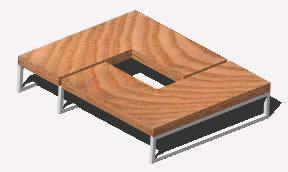 Planos de Mesa moderna centro de sala, en Salas de estar y tv – Muebles equipamiento