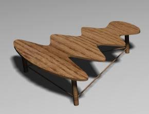 imagen Mesa onda, en Mesas y juegos de comedor 3d - Muebles equipamiento