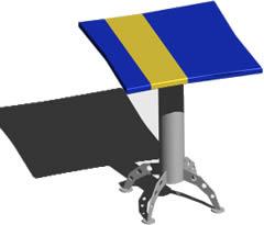 Planos de Mesa para bar 3d con materiales, en Mesas y juegos de comedor 3d – Muebles equipamiento
