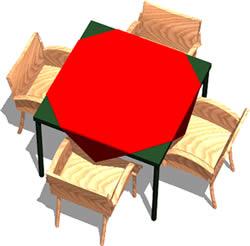 Planos de Mesa para bar – cuatro sillas, en Mesas y juegos de comedor 3d – Muebles equipamiento