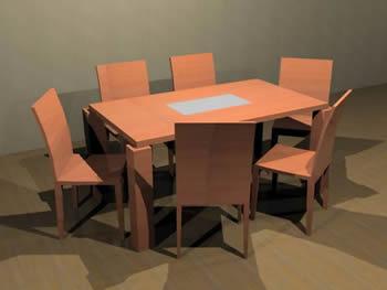 Mesa para comedor 6 puestos todo madera 90 x1 60 cm., en Mesas y juegos de comedor 3d – Muebles equipamiento