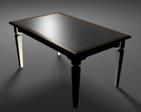 Mesa para comedor, en Mesas y juegos de comedor 3d – Muebles equipamiento