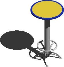 imagen Mesa pasa bar 3d con materiales, en Mesas y juegos de comedor 3d - Muebles equipamiento