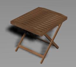 imagen Mesa plegable, en Mesas y juegos de comedor 3d - Muebles equipamiento